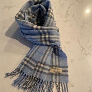 Blue Burberry check scarf